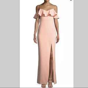Likely Shania Off-the-Shoulder Ruffle Gown Size 8